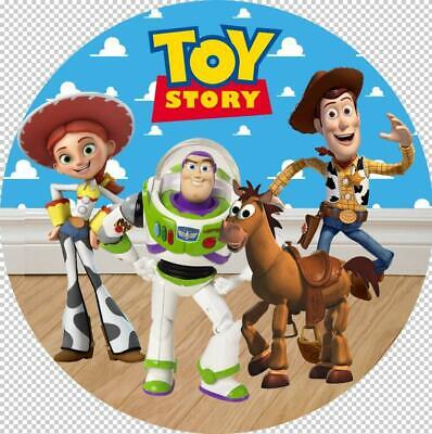 £4.35 • Buy Toy Story Friends Theme Edible 8  Round Cake Topper Icing Sheet