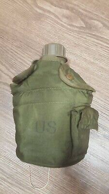 $ CDN12.10 • Buy US Army 1 Qt Hard Plastic Canteen W/ Cover, Cup, & Clips | Olive Drab **used**