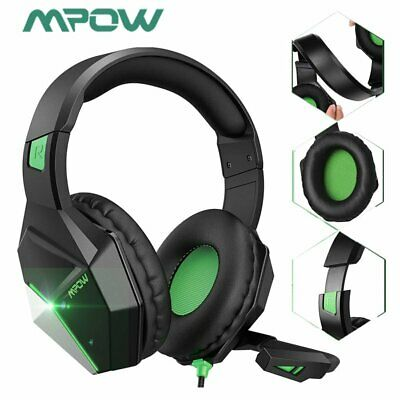 AU32.57 • Buy EG10 Gaming Headset Mic LED Headphones Surround For PC Mac PS4 Xbox One Laptop