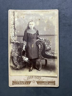 £4.20 • Buy Victorian Photo: Cabinet Card: Young Girl Elegant Chaise : Hart London