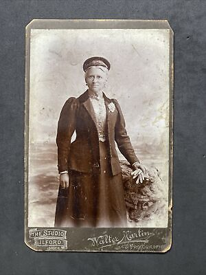£4.50 • Buy Victorian Photo: Cabinet Card: Lady Named Unusual Cap: Martin's: Ilford
