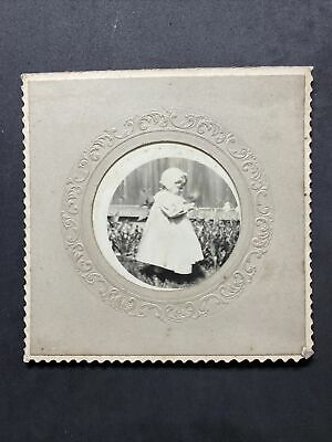 £4.50 • Buy Victorian Photo: Small Cabinet Card: Young Girl Named Perdue Outside