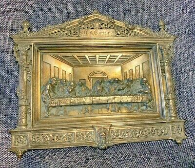£38 • Buy  The Last Supper  Vintage French Cast Metal Plaque