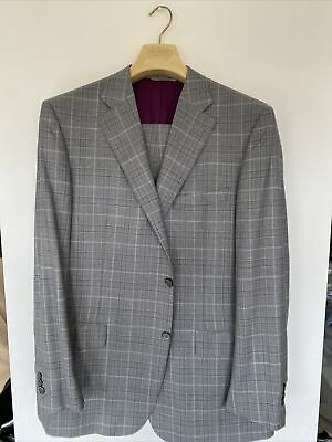 £101 • Buy Canali Grey Checkered Suit Size 56R