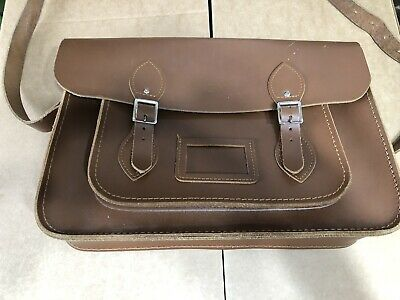 £9.99 • Buy The Cambridge Satchel Company Bag Brown Tan Leather Used & In Good Condition