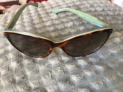 Lovely Pair Of Ladies Ralph Lauren Cat Eye Sunglasses RA 1568 Turquoise/Brown • 11.50£