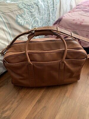 $299.99 • Buy Coach Men's Weekender Cabin Leather Travel Gloved Tanned Duffle Bag