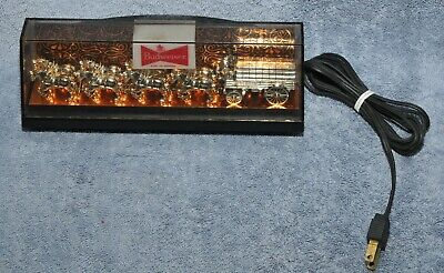 $ CDN151.15 • Buy Vintage Budweiser Clydesdale 8 Horse Beer Bar Light Lighted Everrbrite Sign