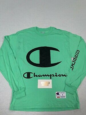 $ CDN35.18 • Buy Supreme Champion Big Classic C Logo Ls Tee Shirt T Box Logo Green L Large