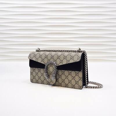 AU599.36 • Buy Gucci Dionysus GG Supreme Shoulder Bag BLACK - RED - AESTHETIC BROWN