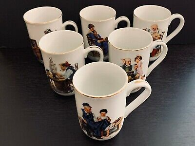 $ CDN18.08 • Buy Norman Rockwell Museum Coffee Mug Cup Collection. Set Of 6. 1982