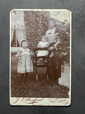 £7.50 • Buy Victorian Photo: Cabinet Card: Family Outside: Sanford: Sandy Beds
