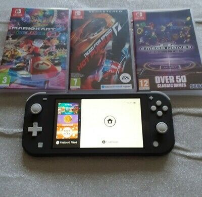 $ CDN341.97 • Buy Nintendo Switch Lite And 3 Games Hardley Used With Box Colour Grey