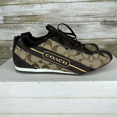 $ CDN51.98 • Buy Coach Womens Remonna F0007-G12 Brown Lace Up Athletic Sneaker Shoes Size 7.5 M