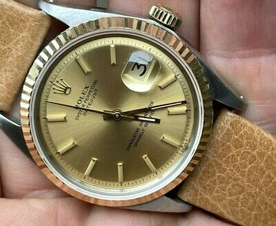 $ CDN3275.51 • Buy 1971 Rolex Oyster Perpetual 1601 Datejust 36mm Two Tone Original Dial 1570 RUNS