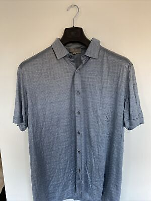 £19 • Buy Canali Short Sleeve Shirt Size 56 100% Silk