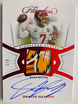 $ CDN2.41 • Buy 2020 Panini Flawless Football Dwayne Haskins SIgnature Gloves Patch Relic Auto 5