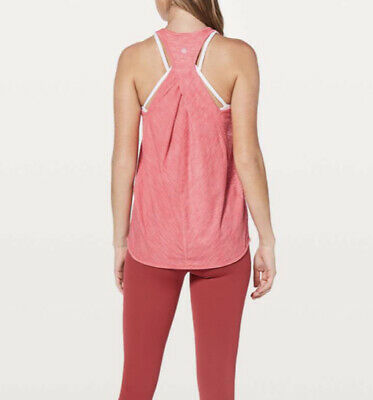$ CDN20.54 • Buy LULULEMON Womens Essential Tank Top Size 4 Silverescent Heathered Glossy Pink