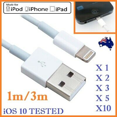 AU4.15 • Buy 1-10Pcs 1M/3M Data USB Charger Cable For IPhone 12 12+ 11 11Pro X 8 7 6 5 4 Mini