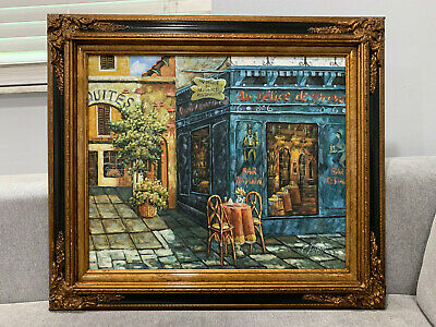 $ CDN545.17 • Buy Parisian French Signed C. Esther Signed Oil On Canvas Painting Bar / Restaurant