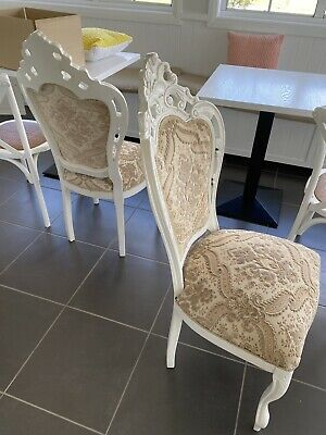 AU90 • Buy Antique Wooden Chairs Re-upholstered In Good Condition X 4