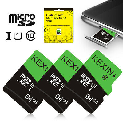 $10.07 • Buy 1/3Pack 64GB Micro SD TF Card SDXC Class 10 Flash Memory Card For Phone Camera