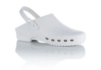 £20.95 • Buy White Non Safety Medical Clogs With Synthetic Elastomer Upper SRC