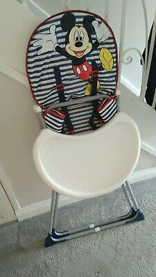 £14.95 • Buy Mickey Mouse Mothercare High Chair Unisex