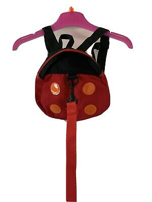 Toddler Ladybird Reins Harness Backpack With Detachable Reins And Chest Strap • 0.99£