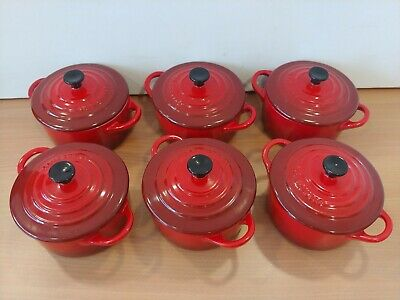 £41 • Buy 6x Le Creuset Red Volcanic Petit Casserole Dishes 10cm X 5cm  S25