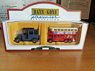 $ CDN2.14 • Buy Boxed Lledo Days Gone By Premier Collection Taxi & 1931 AEC Double Decker Bus