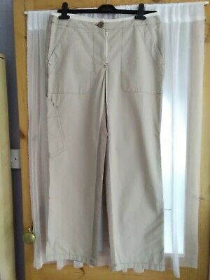 £10 • Buy Murphy & Nye Ladies Cropped Comfort Cotton Casual Trouser Neutral Size 12 BNWT