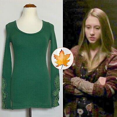 $ CDN94.63 • Buy FREE PEOPLE Crafty Lace Cuff Waffle Thermal Kelly Green XS Violet Harmon Alt