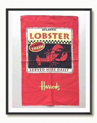 £4.99 • Buy Harrods *Fresh Lobster Served Here* Advertise Tea Towel  New .Discontinued