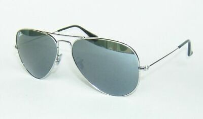 £42.99 • Buy Ray-Ban Genuine RB3025 Aviator Silver With Silver Mirror Lens 58mm