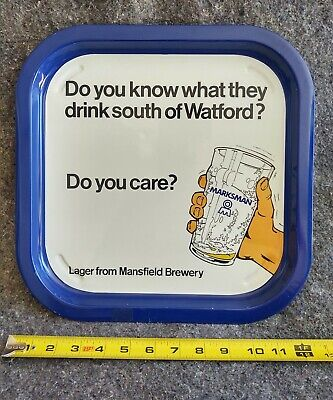 £36.21 • Buy Vintage Marksman Lager From Mansfield Brewery 13 X13  Metal Serving Tray.