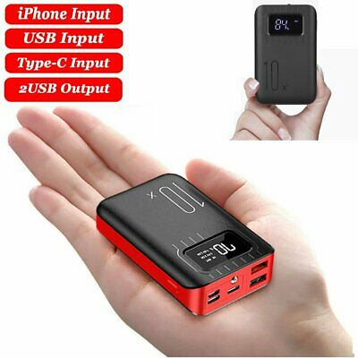 AU27.99 • Buy 900000mAh Power Bank Universal 2USB Type-C Lighning Fast Charge Battery Charger