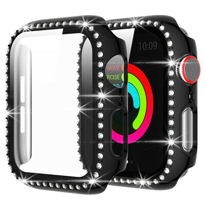 $ CDN9.67 • Buy Watch Protective Case Crystal Diamonds Cover For Apple Watch Series 6 5 4 SE