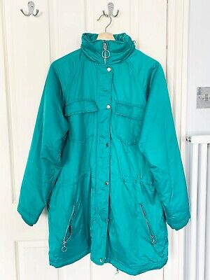 £20 • Buy ASOS Turquoise Blue Waterproof Long Parka Coat With Hood Size 10