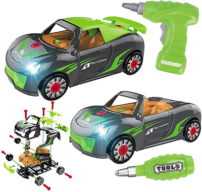 £19.51 • Buy GILOBABY Kid Take Apart Toy Racing Car, 2 IN 1 Construction Build Your Own Car 3