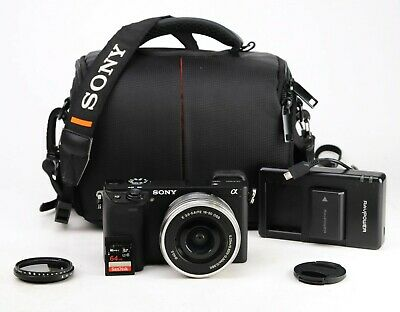 AU47.95 • Buy Sony A6300 DSLR Camera With 16-50mm Lens Kit Battery & Charger Just 6,485 Shots