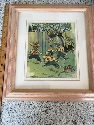 £19.50 • Buy Louis Wain Framed Cat Picture, 14.5 X13.5  Inc. Frame
