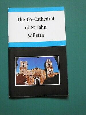 Vintage Guide To Co-cathedral Of St John Valletta Malta Booklet Book • 3.50£