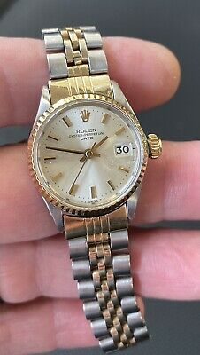 $ CDN1693.93 • Buy Rolex DATE Ladies Two Tone 14K Gold & Steel Watch 6917 - WITH AFTERMARKET BAND