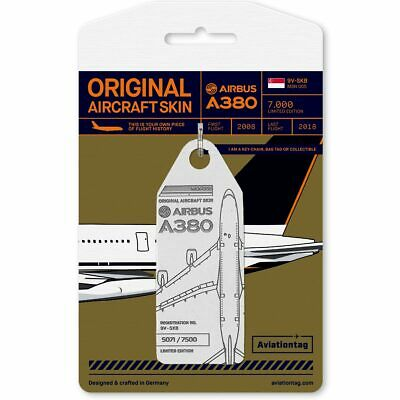 AU148 • Buy Limited Edition Aviationtag A380 Singapore Airlines White