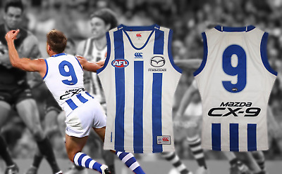 AU350 • Buy Andrew Swallow Match Worn North Melbourne Guernsey (Final Year) Jumper Un Signed
