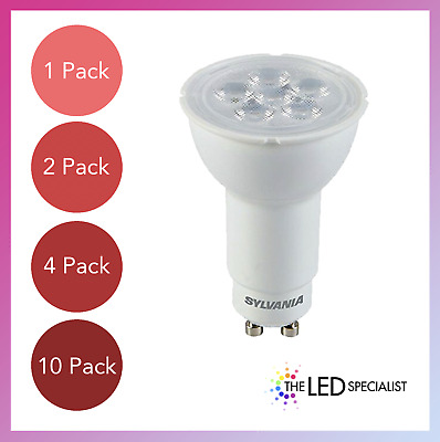 £6.99 • Buy 4.2W GU10 Long Neck LED Bulbs Sylvania 74mm X 50mm Replacement For OLD 9 &11 CFL