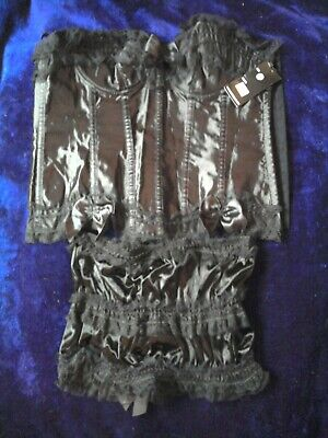 £15 • Buy Black Corset And Matching Skirt Size 16