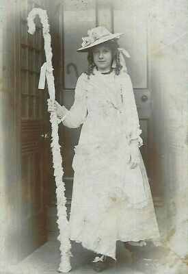 £19.99 • Buy Cabinet Card Photo Pretty Girl Little Bo Peep Costume Willmer Studio Wibsey