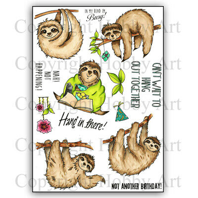 £14.99 • Buy Hobby Art Stamps - Sloths A5 Clear Stamp Set
